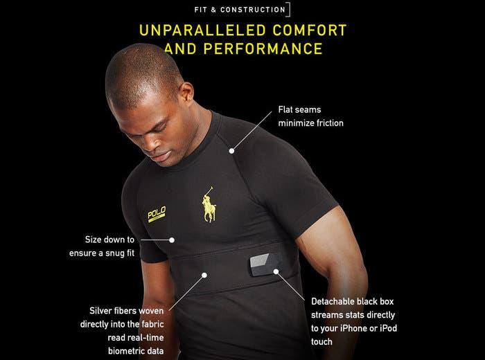 Imagen de la camiseta inteligente Polo SmartShirt