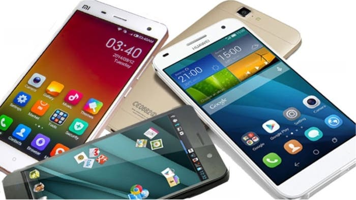 Imagen de varios teléfonos chinos