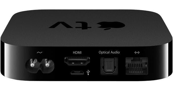Apple TV  mostrando su puerto HDMI