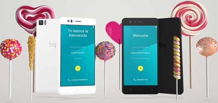 Smartphones Aquaris M con Android 5.0 Lollipop