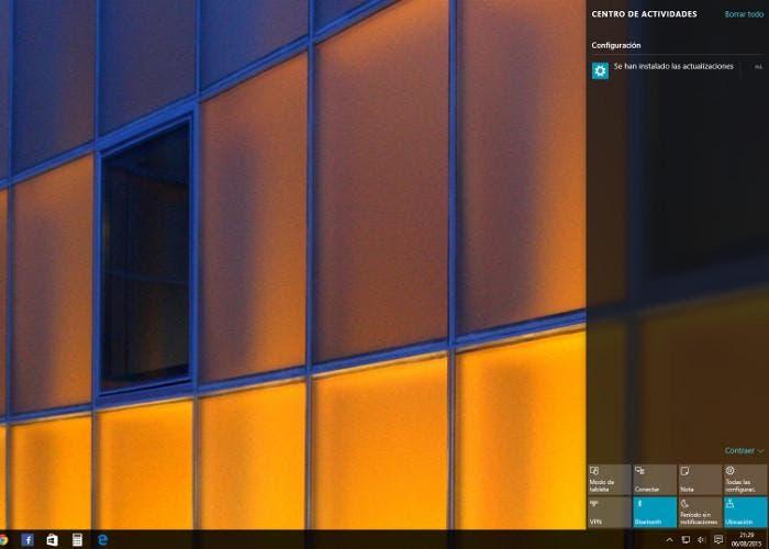 Centro de notificaciones de Windows 10