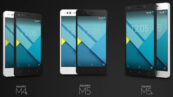 Familia de smartphones bq Aquaris M
