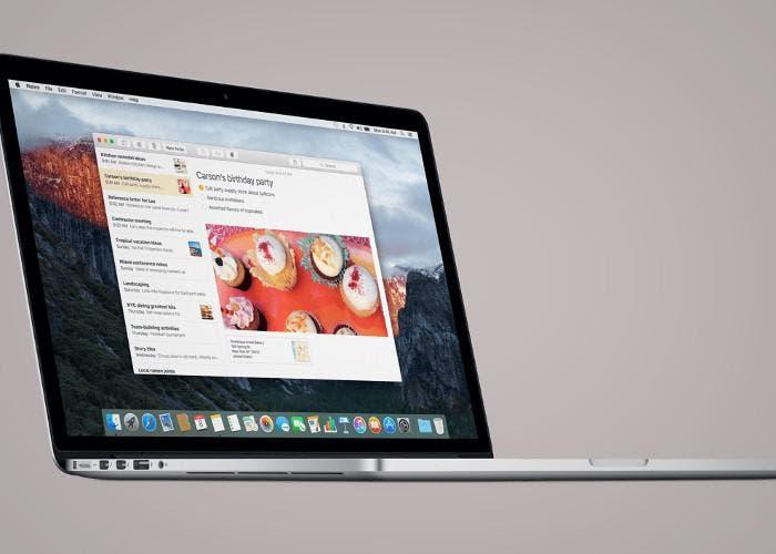 Mac ejecutando OS X El Capitan