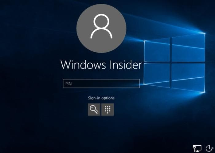 Ventana de inicio de sesión en Windows 10