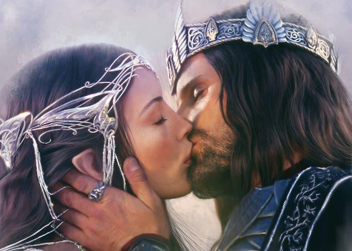 Aragorn y Arwen