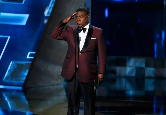 Tracy Morgan presents the Outstanding Drama Series award during the 67th Primetime Emmy Awards in Los Angeles