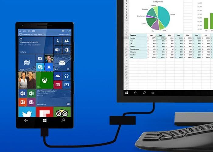 Función Continuum de Windows 10