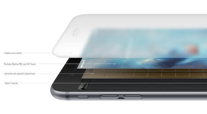 Esquema de funcionamiento de 3D Touch
