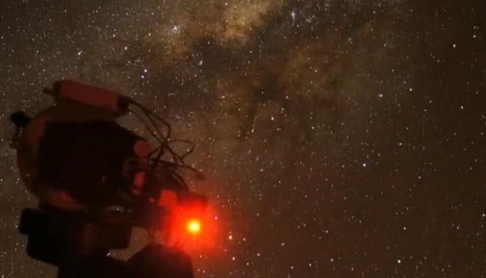 Vía Láctea telescopio de Atacama