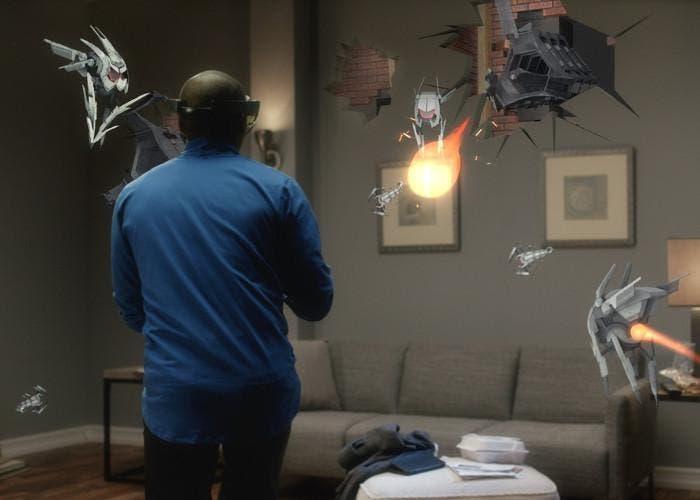 Microsoft HoloLens con el juego Project XRay
