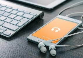 smartphone streaming musica