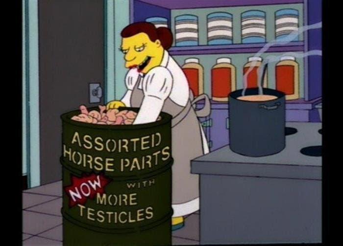 Carne de caballo en Los Simpsons