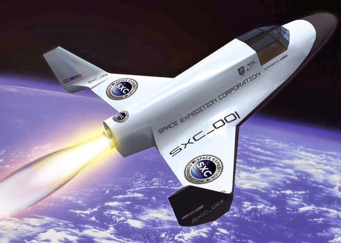 Nave para turistas espaciales