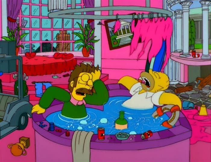 Resacón en Las Vegas de Los Simpson