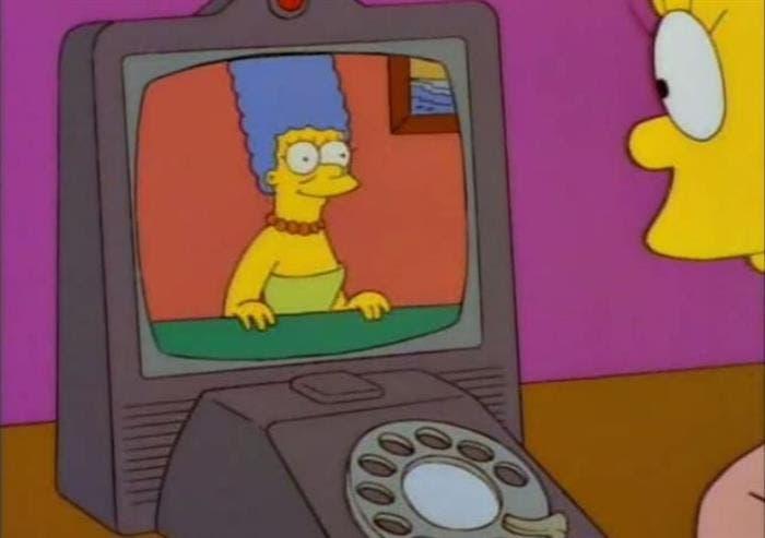 Videollamadas del futuro en Los Simpson