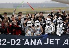 Star Wars fans disfrazados