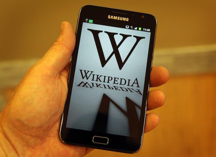 Wikipedia en smartphone