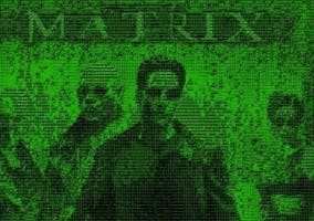 Matrix ASCII destacada