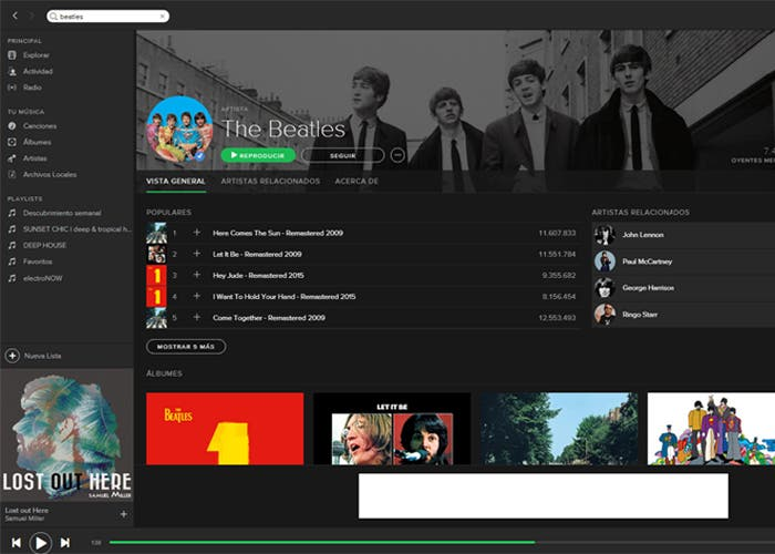 Spotify The Beatles