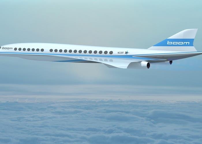 Boom avion volando