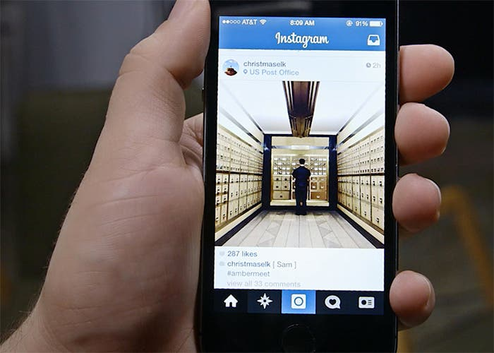 Instagram en mano