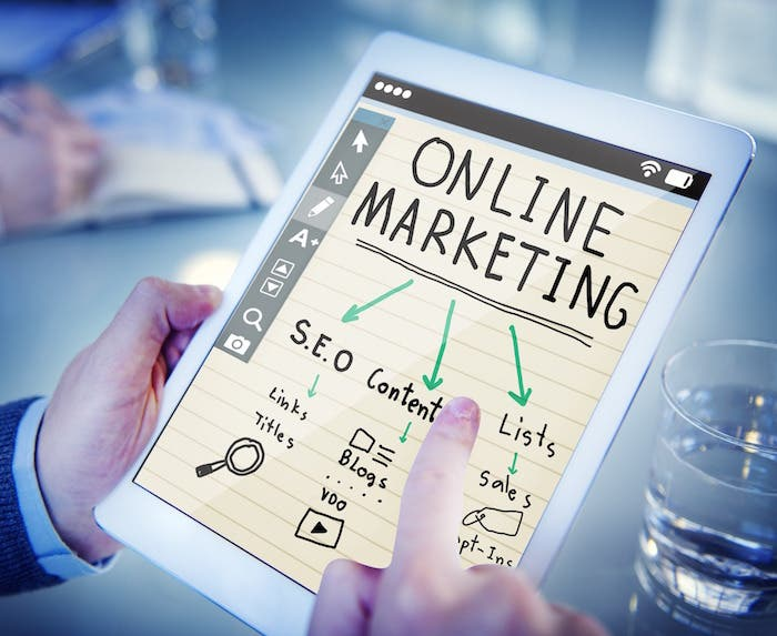marketing online tablet