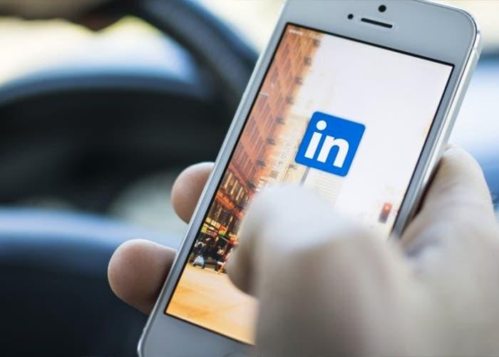 Linkedin en versión móvil