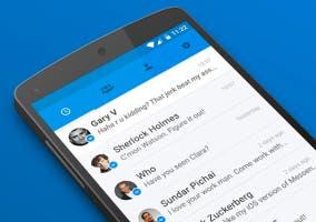 Menú de conversaciones en Facebook Messenger