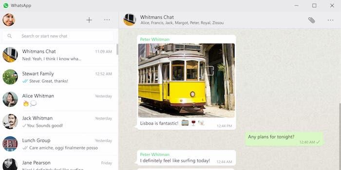 Whatsapp app captura pantalla