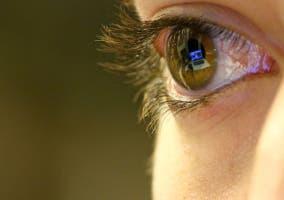 ordenador reflejado en el ojo
