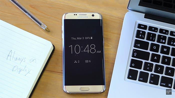 Samsung-Galaxy S7 edge Always on Display