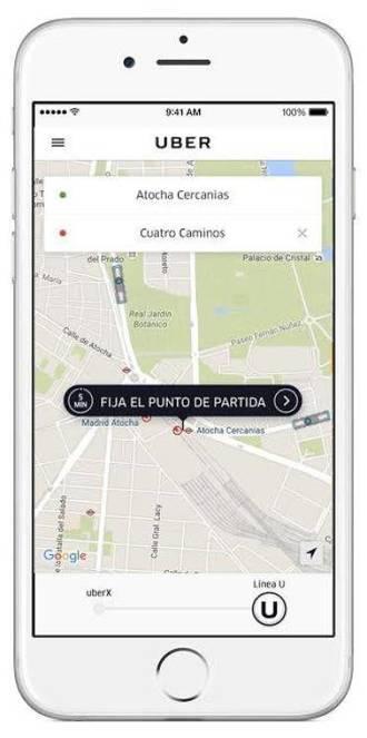 Nuevo servicio Uber