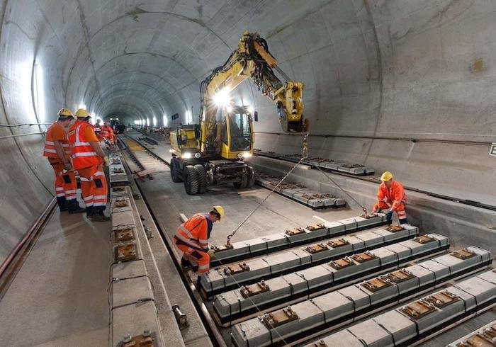 tunel gotthard construccion
