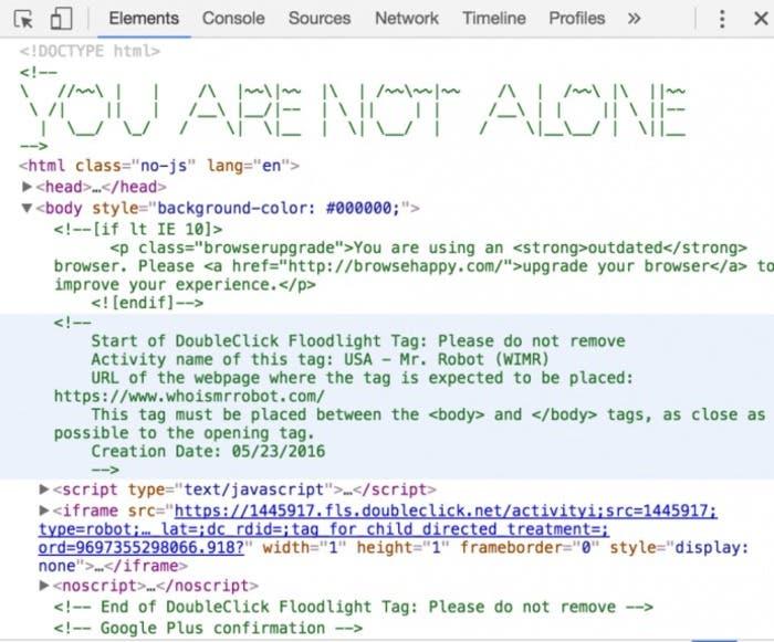 Mr. Robot código cifrado