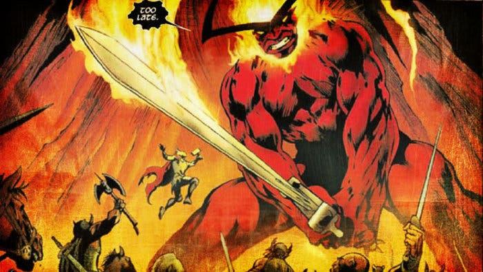 Thor Ragnarok vs Sutur demonio espada