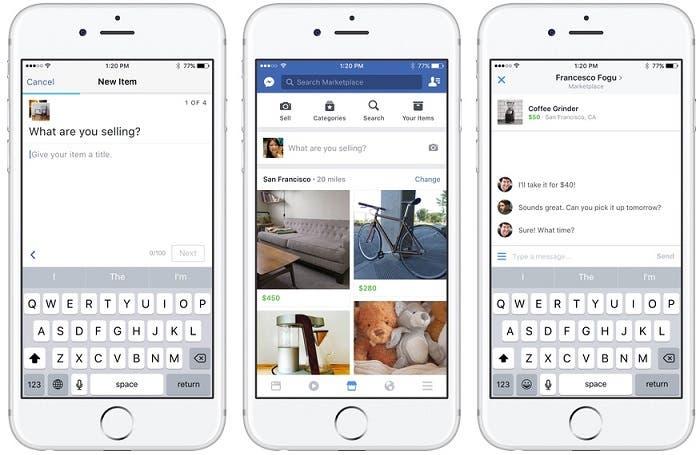 Facebook lanza Marketplace, la renovada pericia de Wallapop y Vibbo
