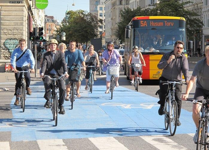 La gran victoria de la bicicleta al coche en Copenhague