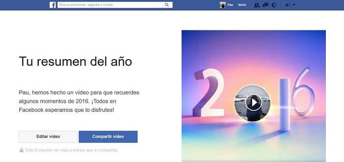 ¿Sabes ya cómo modificar el vídeo-resumen de fin de año de Facebook?