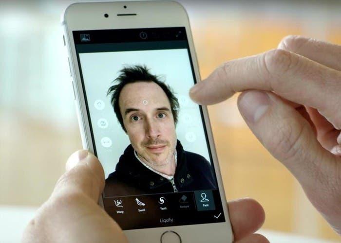 Adobe Sensei para edición de selfies