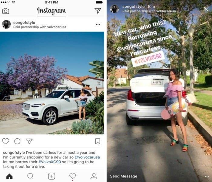Contenido publicitario en Instagram