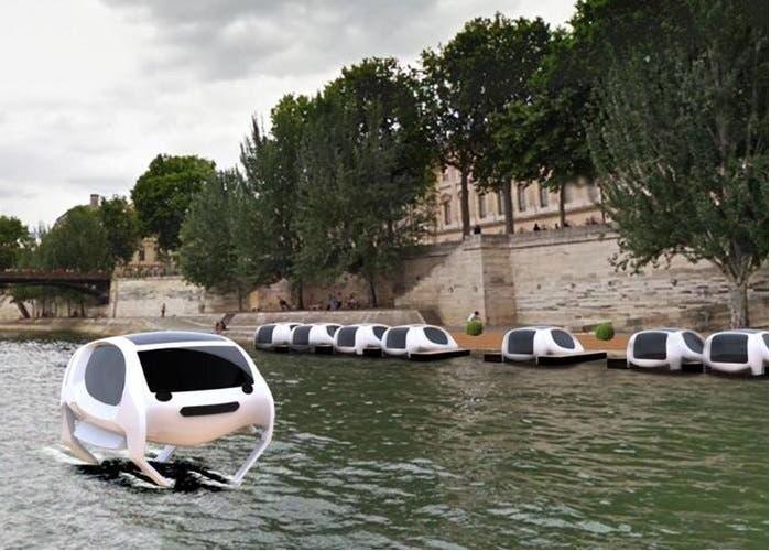 La startup SeaBubbles propone la llegada de los taxis acuaticos