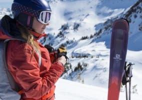 Casco esquí mujer
