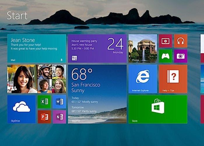 Pantalla de Inicio de Windows 8.1