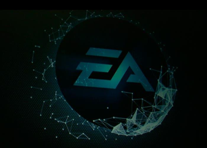 Logo EA en la conferencia del Gamescom