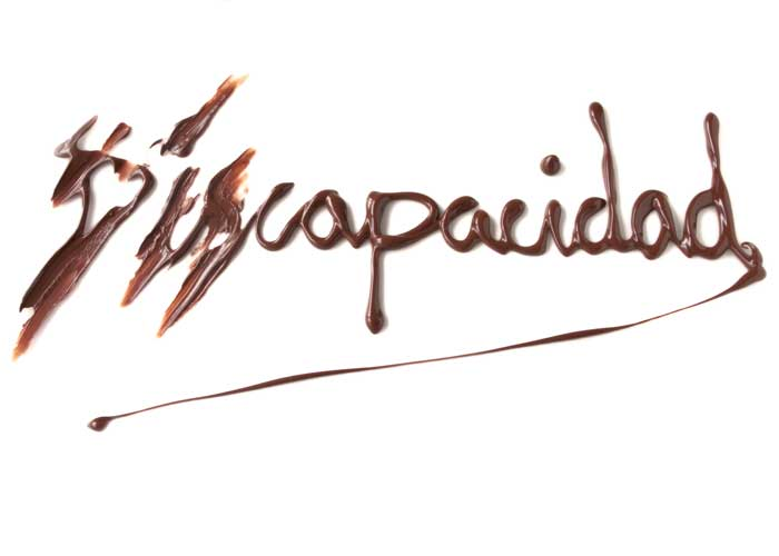 Texto escrito con chocolate