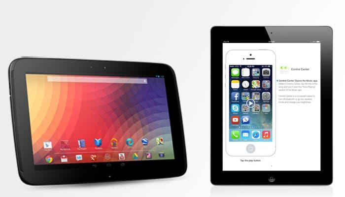 Competencia Surface iPad y Nexus 10