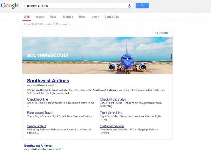 Banner en Google
