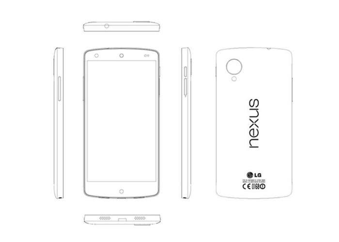 Dibujo esquemático del Google Nexus 5