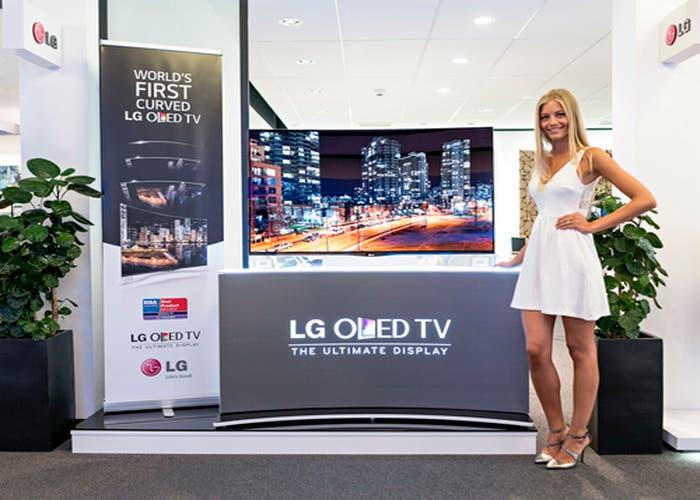 TV LG curvo
