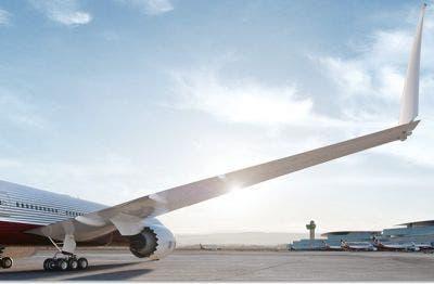 Las alas plegables del Boeing 777X